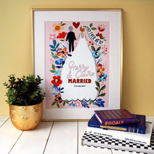 Load image into Gallery viewer, Personalised Happily Ever After Wedding Print