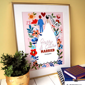 Personalised Happily Ever After Wedding Print