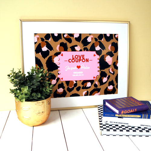 Personalised Love Coupon Print