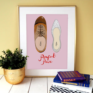 Perfect Pair Personalised Wedding Print