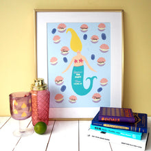 Load image into Gallery viewer, Personalised Mermaid Hen Party Print