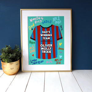 Dad's Winning Team Shirt Father's Day Print