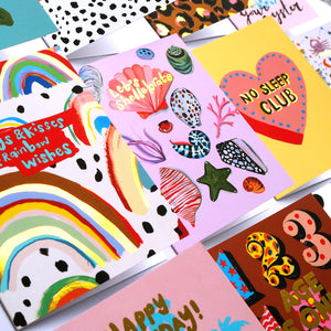 Hugs & Kisses & Rainbow Wishes Card