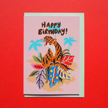 Load image into Gallery viewer, Happy Birthday Tiger Card