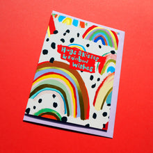 Load image into Gallery viewer, Hugs & Kisses & Rainbow Wishes Card