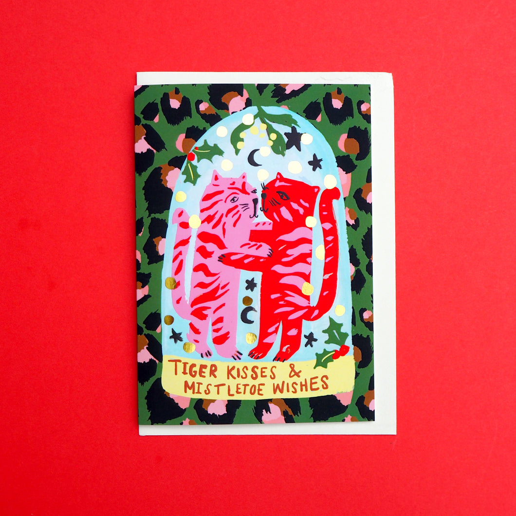 *SALE* Tiger Kisses Foiled Christmas Card