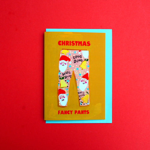 *SALE* Christmas Fancy Pants Gold Foiled Card