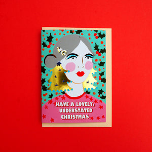 Understated Christmas Gold Foiled Card
