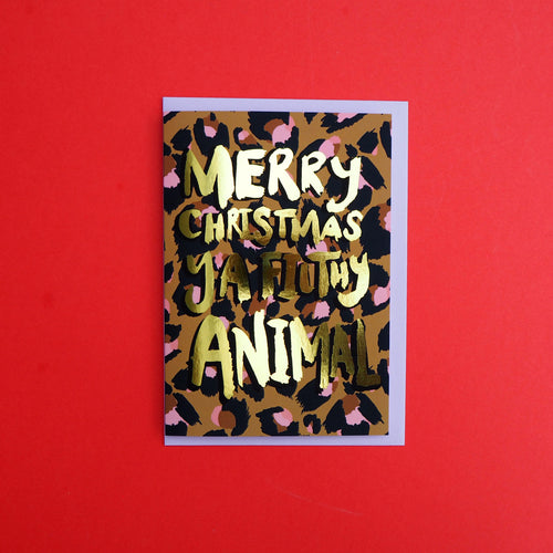 'Merry Christmas Ya Filthy Animal' Gold Foiled Card