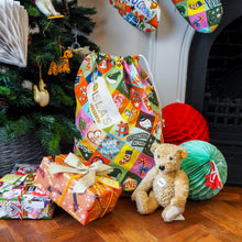 Load image into Gallery viewer, Personalised Festive Patchwork Personalised Christmas Sack