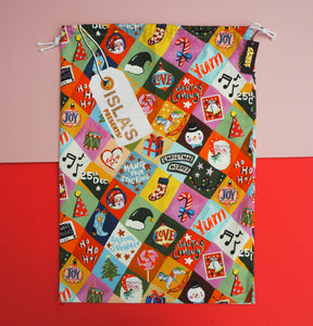 Personalised Festive Patchwork Personalised Christmas Sack