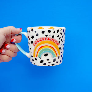 Life Is Fantastic Rainbow Mug