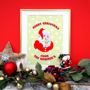 Merry Christmas From The... Personalised Santa Print
