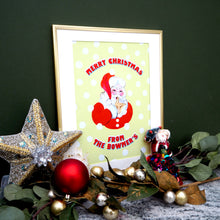 Load image into Gallery viewer, Merry Christmas From The... Personalised Santa Print