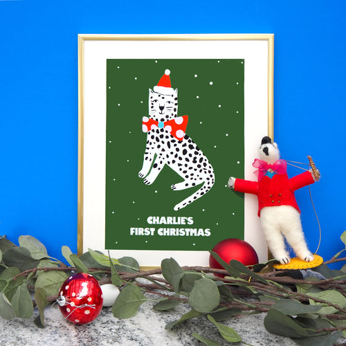 Personalised Christmas Leopard
