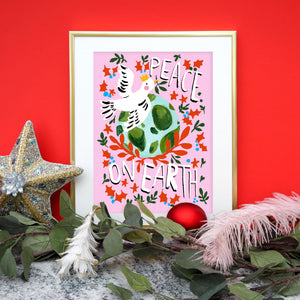 Peace On Earth Dove Print
