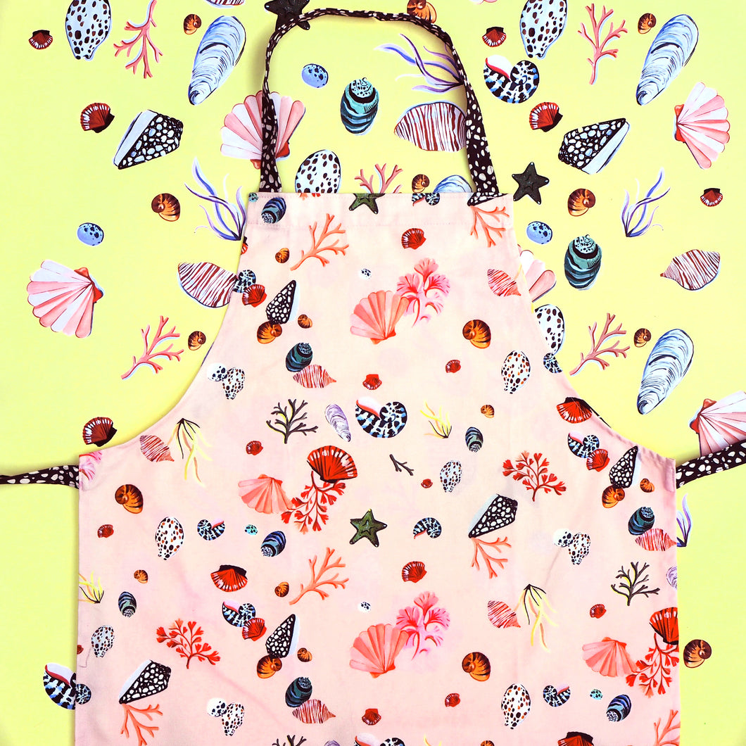 Adult's Miami Shells Pink Apron