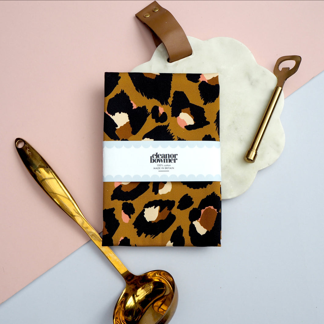 Traditional Leopard Print Tea Towel