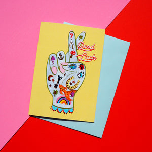 Fingers Crossed Good Luck Card