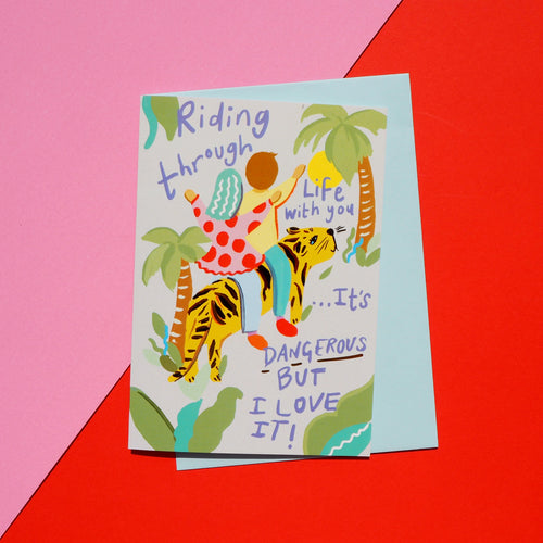 Riding Through Life With You Anniversary Card