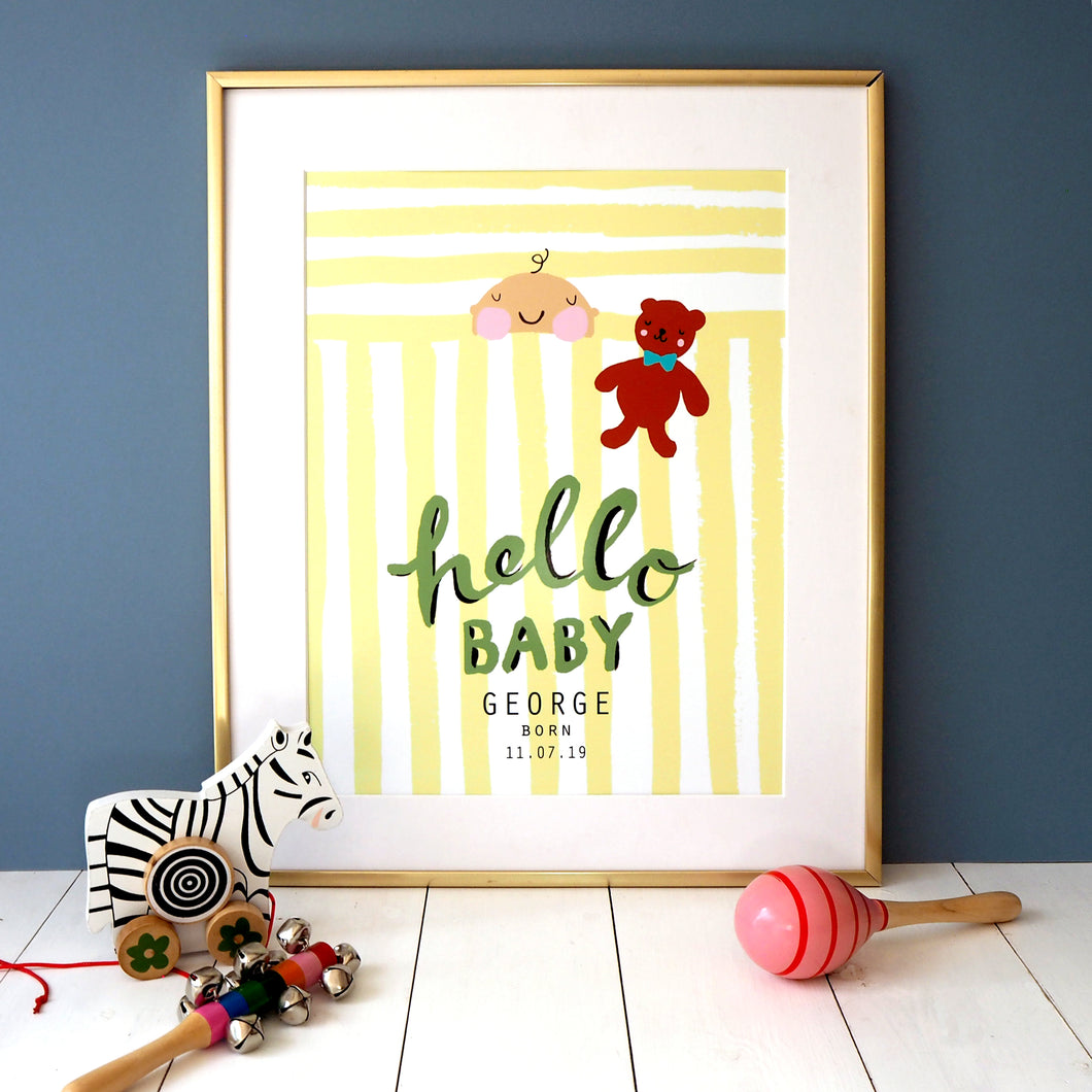 Hello Baby Personalised Print