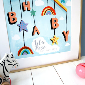 Hey Baby Mobile Personalised Print