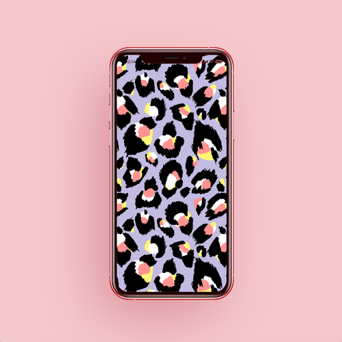 Lilac Leopard Phone Screensaver