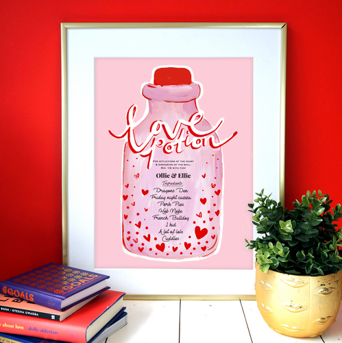Personalised Your Own Love Potion Print