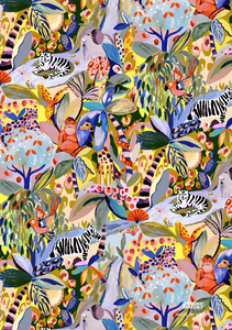 Jungle Animals Gift Wrap
