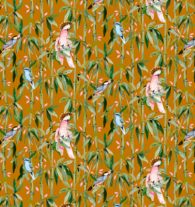 Exotic Bamboo Sienna Wallpaper Sample