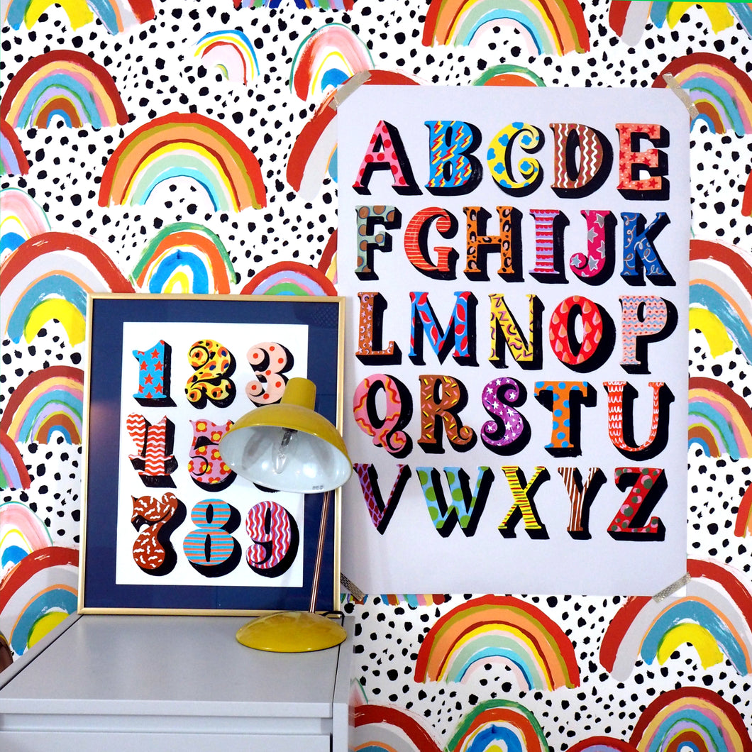 Eleanor Bowmer colourful alphabet large print 50x70 A1 and A2 artwork