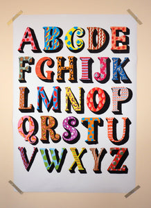 Alphabet Large Scale Print