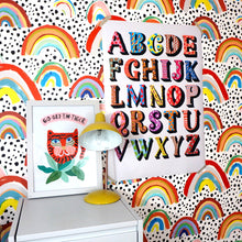 Load image into Gallery viewer, Eleanor Bowmer colourful alphabet large print 50x70 A1 and A2 artwork