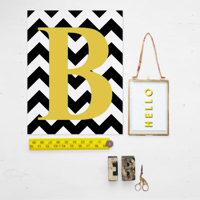 Eleanor Bowmer Chevron Initial personalised print