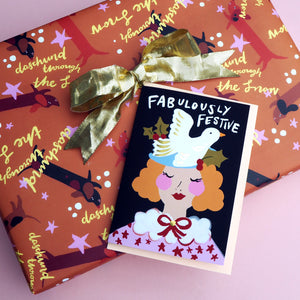 Fabulously Festive Gold Foiled Christmas Card