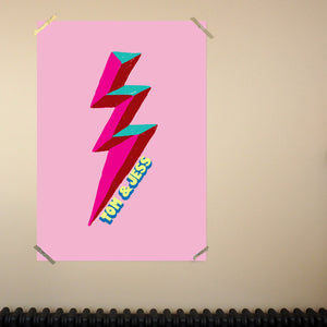 Personalised Lightening Bolt Large Scale Print