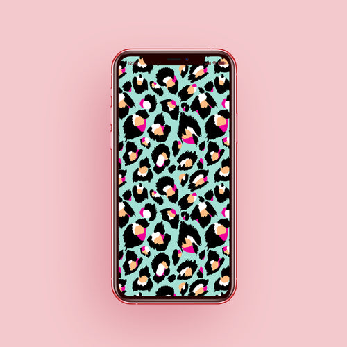 Mint Leopard Phone Screensaver