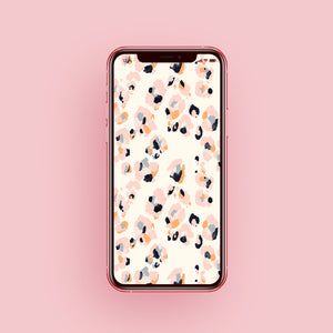 Pale Pink Leopard Phone Screensaver