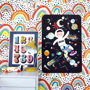 Personalised Astronaut Large Scale Print