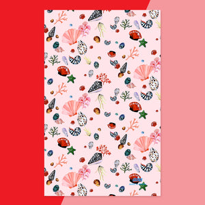 Miami Shells Tea Towel