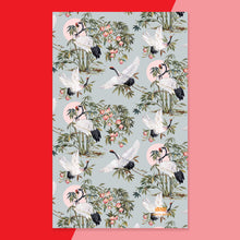 Load image into Gallery viewer, Elegant Cranes Tea Towel