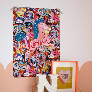 Personalised Magic Unicorn Large Scale Print