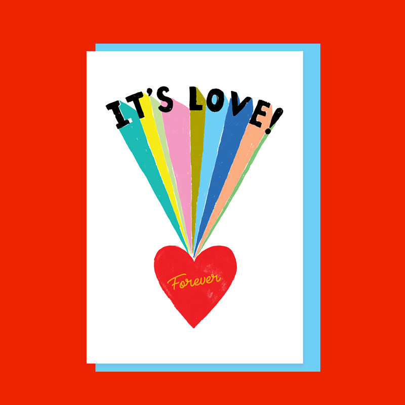 It's Love Valentine's Day Card