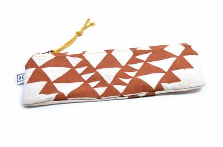 Terra Cotta Bowtie Canvas Pencil Case
