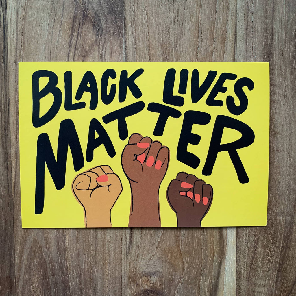 BLM Fists Protest Postcard