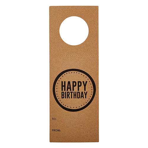 craft brown paper happy birthday bottle tag