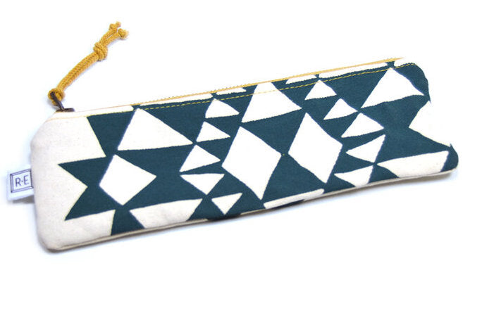 Peacock Bowtie Canvas Pencil Case