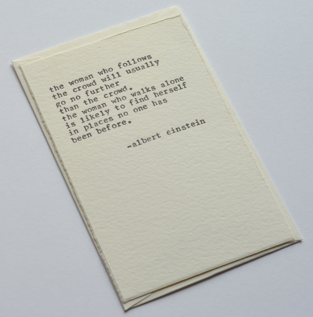 Einstein Inspirational Notecard