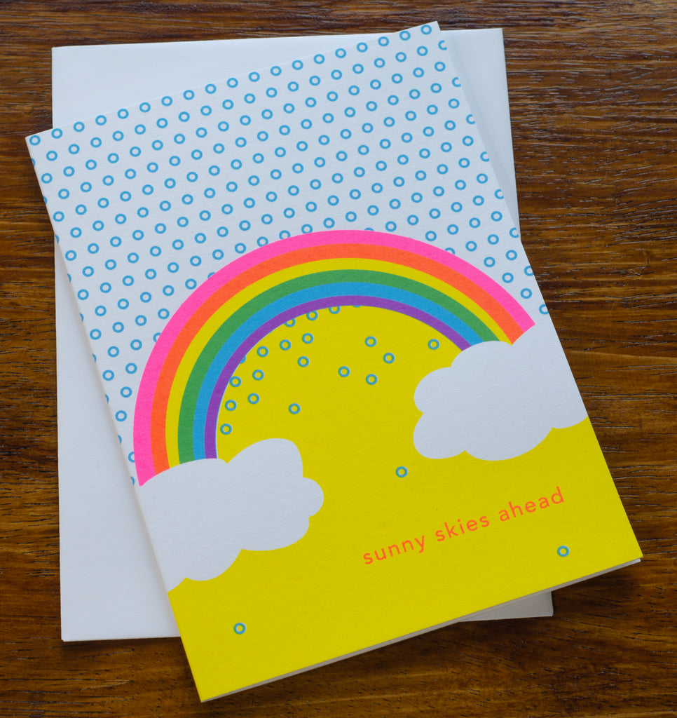 Sunny Skies Ahead | Screen Printed Card