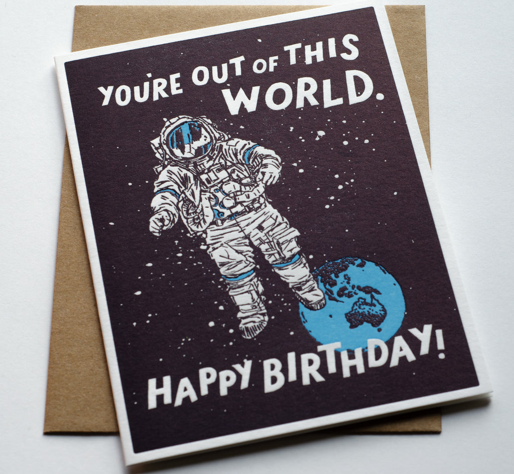 Out of This World Birthday | Letterpress Card